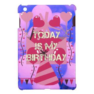 Happy Birthday Today is my Birthday Blue Balloons iPad Mini Cases