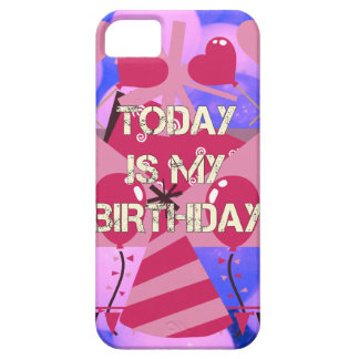 Happy Birthday Today is my Birthday Blue Balloons iPhone 5 Cases