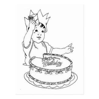 Happy Birthday Toddler Postcard