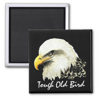 Happy Birthday Tough Old Bird  Bald Eagle Square Magnet