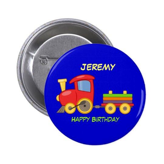 Happy Birthday, Toy Train, template 6 Cm Round