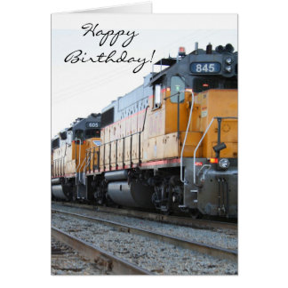 Happy Birthday Train greeting card