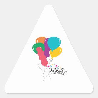 Happy Birthday Triangle Sticker