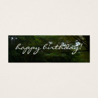 Happy Birthday Tropical Rainforest Bamboo Mini Business Card