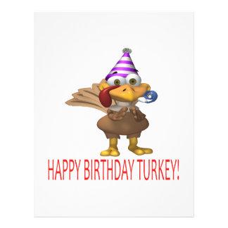 Happy Birthday Turkey 21.5 Cm X 28 Cm Flyer