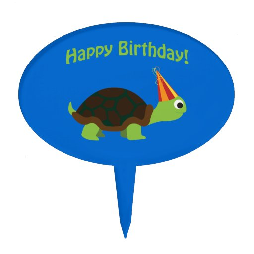 Happy Birthday! Turtle Cake Toppers