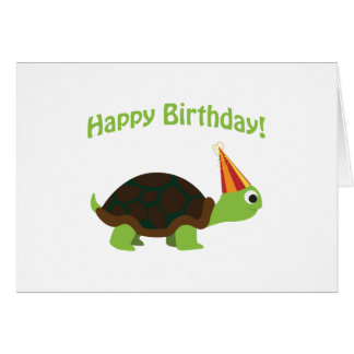 Happy Birthday! Turtle Card