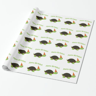 Happy Birthday! Turtle Wrapping Paper