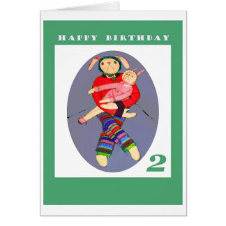 happy birthday , Two years old Greeting Card