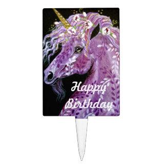 Happy Birthday Unicorn Cake Pick