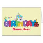 Happy Birthday Unicorn (personalised) Card