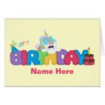 Happy Birthday Unicorn (personalised) Greeting Card