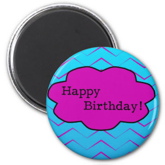 Happy Birthday Unique Purple Wallpaper Cloud 6 Cm Round Magnet