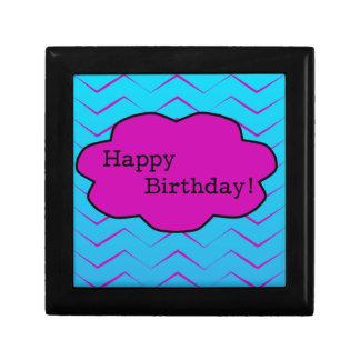 Happy Birthday Unique Purple Wallpaper Cloud Small Square Gift Box