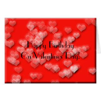 Happy Birthday Valentines Greeting Card