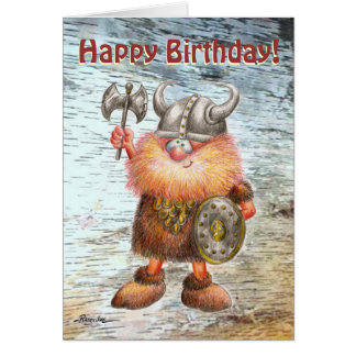 Happy Birthday Viking Birthday Card