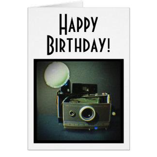 Happy Birthday Vintage Camera Card