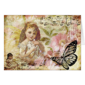 Happy Birthday Vintage Collage Greeting Card