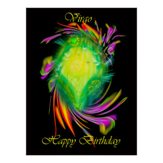 Happy Birthday Virgo - virgin Poster