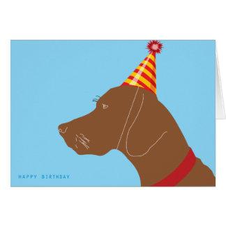 Happy Birthday Vizsla Boy! Card