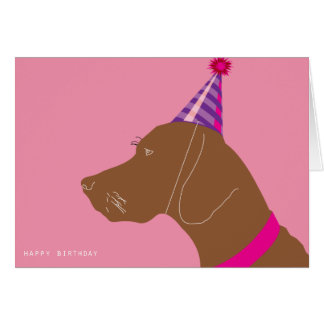 Happy Birthday  Vizsla Girl Card