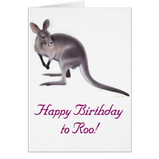 Happy Birthday Wallaby Card