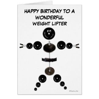 Happy Birthday Weight Lifter Card