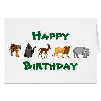 Happy Birthday Wild Animals Card