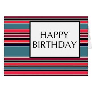 happy birthday (wineStripes) Greeting Card