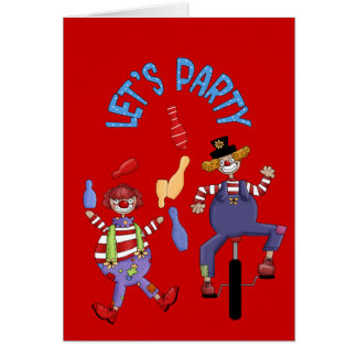 Happy Birthday Wishes Circus Clown Card