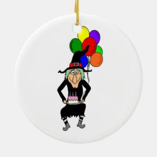 Happy Birthday Witch Ornament