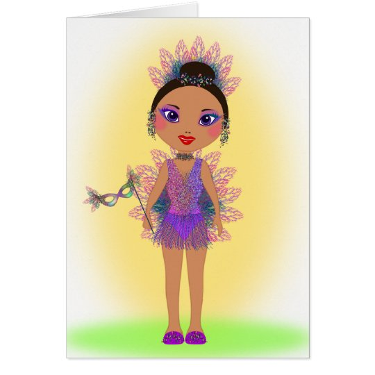 Happy Birthday with a Colourful Glitter Girl Card