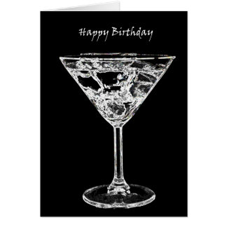 Happy Birthday with a Martini Card