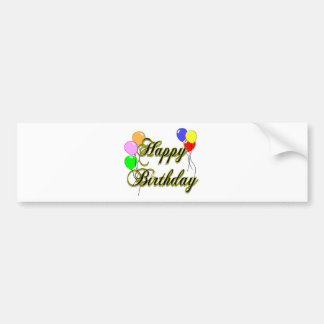Happy Birthday with Balloons 2 Bumper Sticker