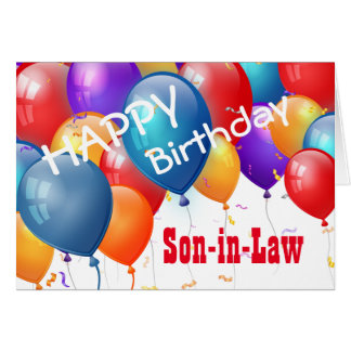 Happy Birthday with Balloons SON-IN-LAW Greeting Card