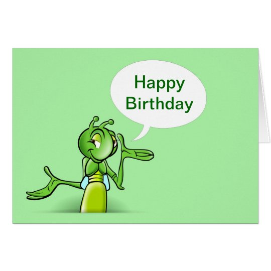 Happy Birthday with cricket talking Card