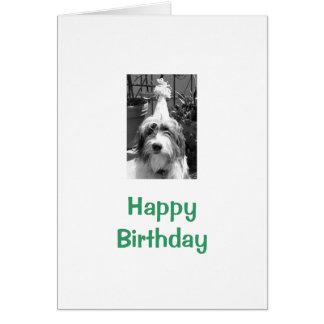 Happy Birthday with dog Greeting Card