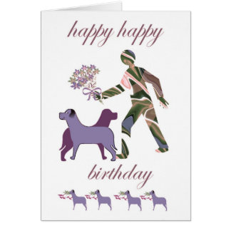 Happy Birthday with dogs Card