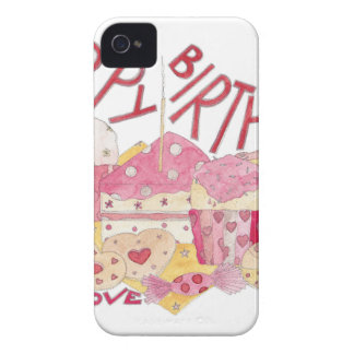 Happy Birthday With Love Case-Mate iPhone 4 Case