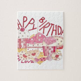 Happy Birthday With Love Jigsaw Puzzle