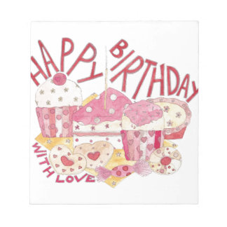 Happy Birthday With Love Notepad