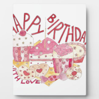 Happy Birthday With Love Photo Plaques