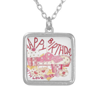 Happy Birthday With Love Silver Plated Necklace