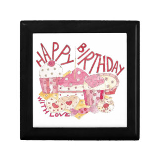 Happy Birthday With Love Small Square Gift Box