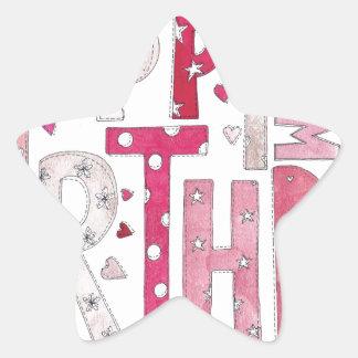 Happy Birthday With Love Star Sticker