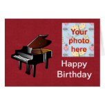 Happy Birthday with piano add photo