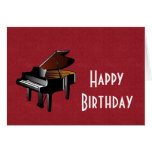 Happy Birthday with piano ebony and ivory Greeting Card