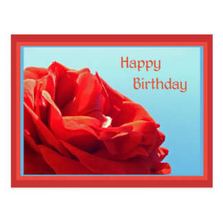 Happy birthday with roses postcards