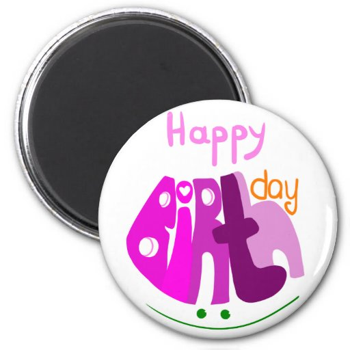 Happy Birthday with smile magnet