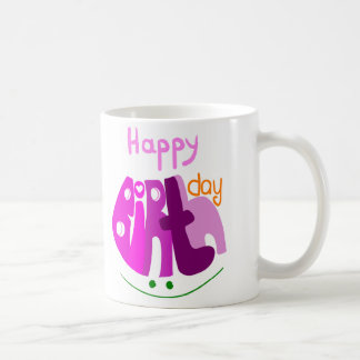 Happy Birthday with smile mug